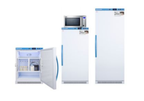 New Breast Milk Refrigerators Available in White Cabinet with Blue Handle