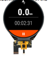 New 3.4-inch Round Display with White LED Backlighting