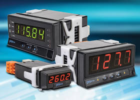 New Digital Panel Meters Available in 1/32 and 1/8 DIN Sizes