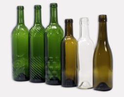 New Glass Wine Bottles with Variety of Shapes and Textures