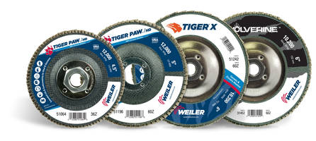 New Flap Disc Offerings are Ideal for Edge Grinding on Steel and Stainless Steel