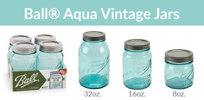 New Limited Edition Aqua Vintage Jars with 2-piece Sure Tight Lids