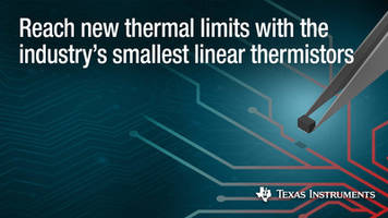 New Linear Thermistors are Ideal for Industrial, Automotive and Consumer Applications
