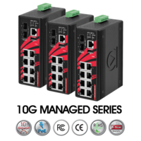 New 10 Gigabit Antaira Switches Support High-density Ethernet Port Connectivity