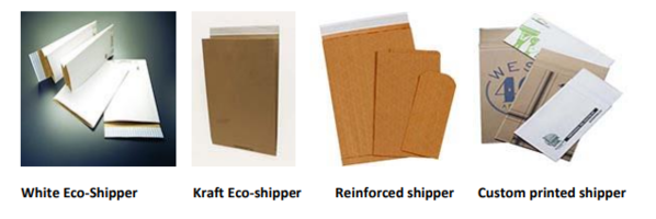 New White Eco-shippers Envelopes Available in Flat or Gusseted