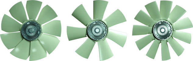 New O-PMAX3 and O-PMAX4 One-Piece Molded Fans are Compatible with Bimetal or E-visco Fan Clutches