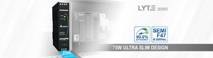 New 75W DIN Rail Power Supply with Built-in Constant Current Circuit