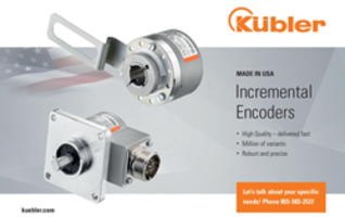 Kuebler Inc - Now Manufacturing Incremental Encoders in Charlotte NC - Manufacturer of Rotary Encoders for Shaft and Hollow Bore Industrial & Automation Applications
