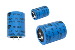 New Electrolytic Capacitors from Vishay are RoHS-Compliant