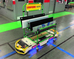 New Bi-Directional AGV with Kitting Cart Comes with Dual Drive Wheels