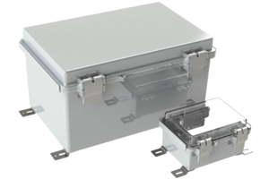 New Hinged Electrical Enclosures Offer Clear Cover Option