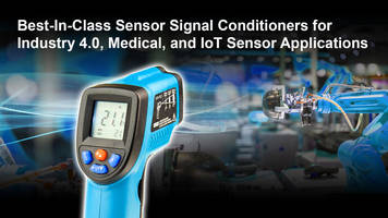 New Sensor Signal Conditioner Integrates 26-bit DSP for High-precision Sensor Calibration
