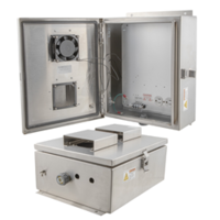 New Stainless Steel Enclosures Feature 120 and 240V Power with Outlets