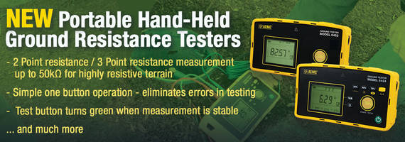 New Resistance Testers Feature Automatic Test Frequency Adjustment