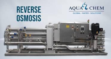 New Beverage Reverse Osmosis Systems Feature Convenient Sample Ports for Monitoring