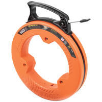 New 25-Foot Wide Steel Fish Tape with High Impact Resistant Case
