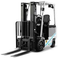 New BX Electric Counterbalanced Forklifts with Onboard Diagnostics and Controlled Rollback