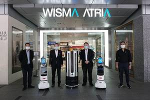 New Disinfection Autonomous Robot Equipped with 360-degree Camera