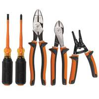 New 5-Piece Insulated Tool Kit Available with Two Screwdrivers, Pliers and Wire Stripper