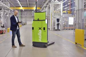 AGILOX Autonomous Mobile Robots are Substantially Saving Costs by Applying Artificial Swarm Intelligence