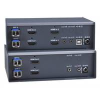 New 2-Port Dual Monitor 4K DisplayPort USB KVM Switch with Built-in USB 3.2 Hub