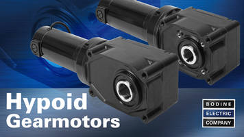 New PMDC Gearmotors with Rated Torque Ranging from 20 lb-in to 1535 lb-in