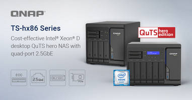 New Desktop QuTS Hero NAS Available with Two 2.5-inch SSD Trays