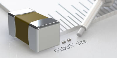 New Ceramic Capacitor Available in Compact Size of 0.4 x 0.2 mm
