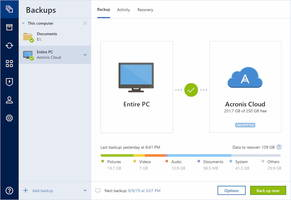 Enhanced Backup Technology and Complete Cyber Protection with Acronis True Image 2020