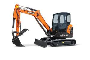 New Mini Excavators with 3-cylinder Doosan Diesel Engine
