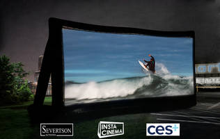 New InstaCinema Inflatable Outdoor Cinema Screen Offers Fully Functional, High-Quality, and Portable Option