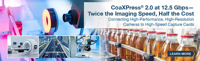 New CoaXPress 2.0 Interface with an Integrated Clock Data Recovery