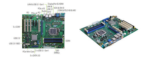 New ATX Industrial Motherboard Supports 1 PCI Express Mini Card Slot