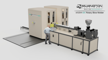 New MSBW60-DC Blow Molding Machine Features Rail System Guides