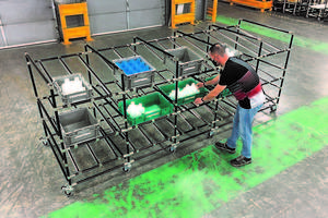 New Anti-Static Mobile Flow Rack Offers First In-First Out Inventory Management