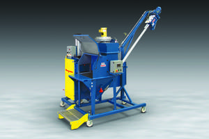 New Bag Dump Station Can be Mounted on Mobile Frame with Locking Casters and Fold-Down Step