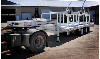 New FT-40-2 Triple Reel Trailer Equipped with One-piece Reel Rack Assembly