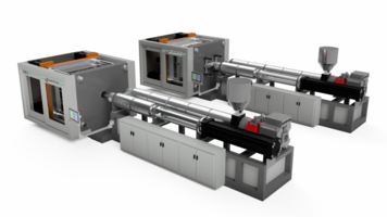 New Pallet Molding Machine Accepts 100% Recycled Plastics Even in Flake Form