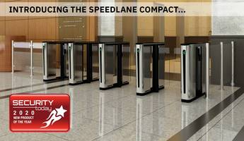 New Speedlane Compact Optical Turnstile Includes Tailgating and Low-object Detection Sensors
