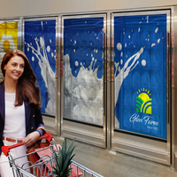 New Digital Signage and Transparent Cooler Door Displays Allow Retailers to Provide Digital Content to Customers