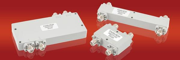 New RF Hybrid Couplers Feature Coaxial Design with SMA and 2.92 mm. Connectors