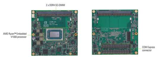 New COM Express Type 6 Compact Module Compatible with Windows 10 and Linux Operating Systems