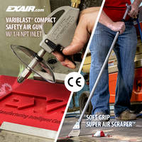EXAIR's Safety Air Guns Available with Stainless Steel, PEEK Plastic and Zinc Aluminum Nozzles