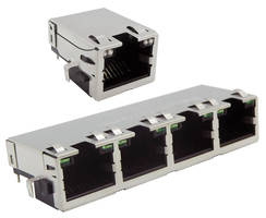 New Mid-Plane RJ45 Connectors Support 1 and 2.5G Data Rates and 100 MHz Transmission Frequencies