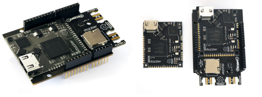 New Gameduino 3X Dazzler with BT815 Controller Enables High-definition Video Playback at 30 fps Frame Rates