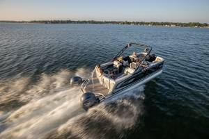 New AquaPatio Twin Pontoons Come with 150-300-hp Engine