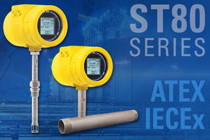 New Thermal Mass Flow Meter with Backlighted Informational LCD Display