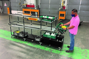 New ESD Flow Rack from Creform is Designed to Hold up to 500 lb