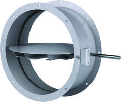 New Round Control Damper Features Flanged-Style Frame