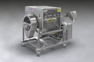 New Rotary Batch Mini Mixer Equipped with Inlet-mounted Spray Line